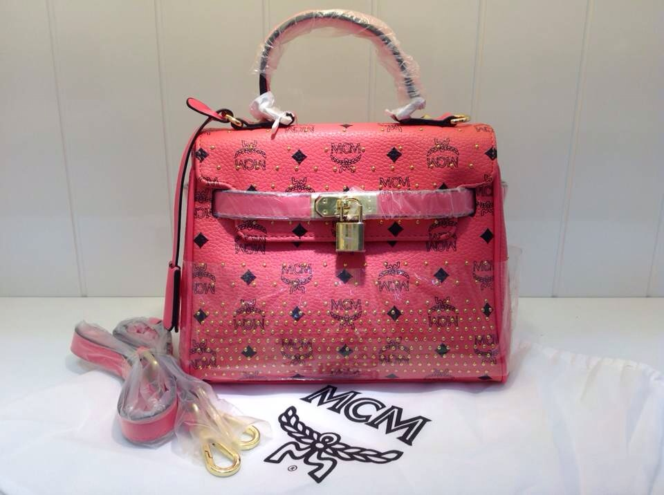 MCM专柜同款 红色ketty包 女士单肩包手提包