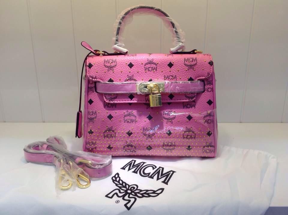 MCMketty包 粉色手提包 实拍专柜同款单肩包
