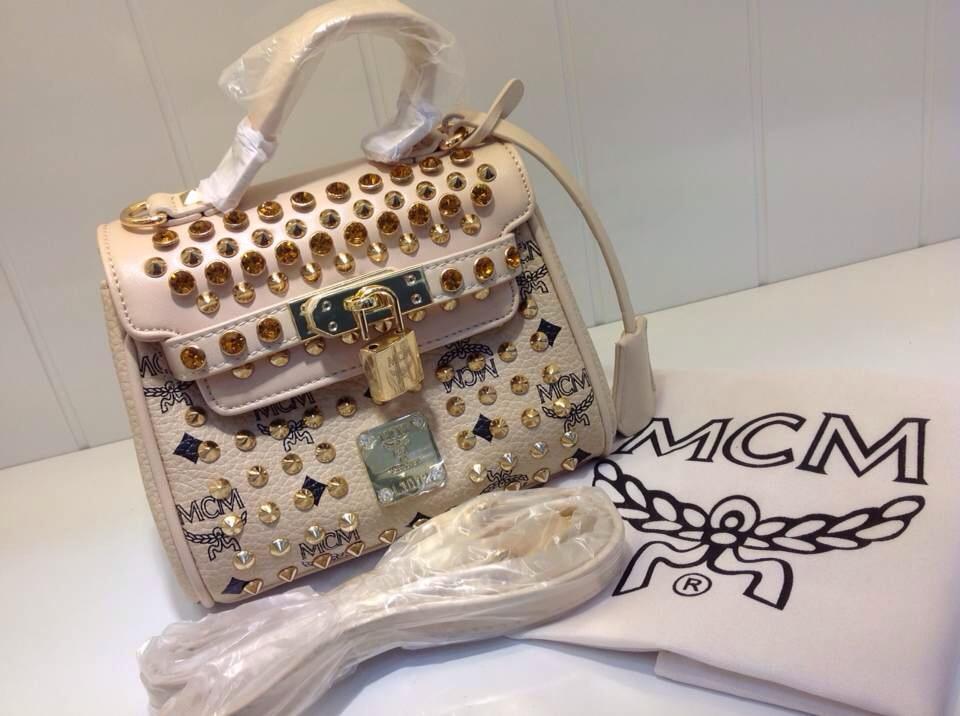 MCM专柜质量 小号镶钻ketty包 女士手提包单肩包斜挎包