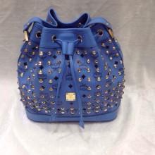 2015新款 MCM小号电音蓝水桶包 单肩包斜挎包女士包包批发