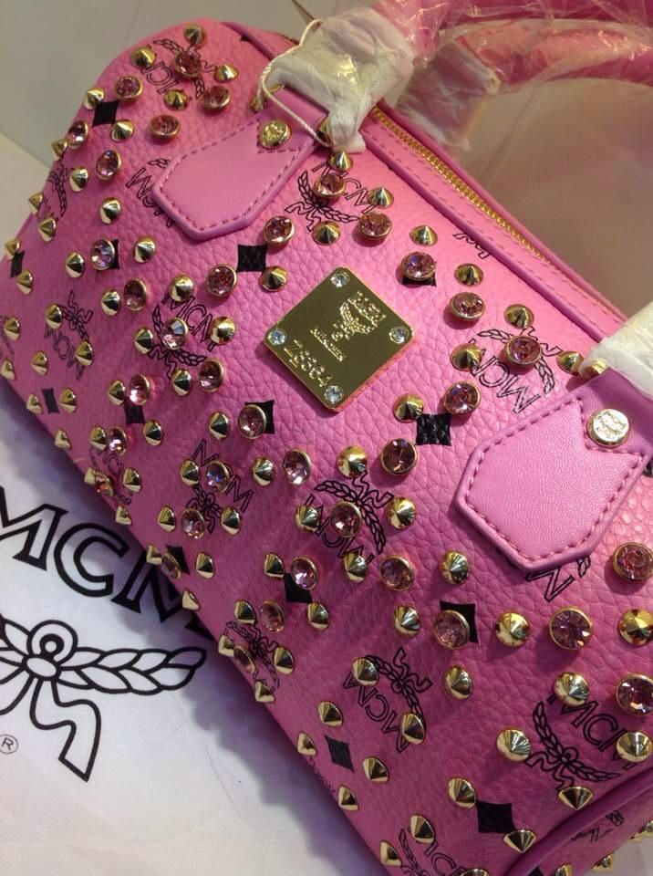 厂家直销 MCM单肩手提两用包 粉色手提包 时尚百搭