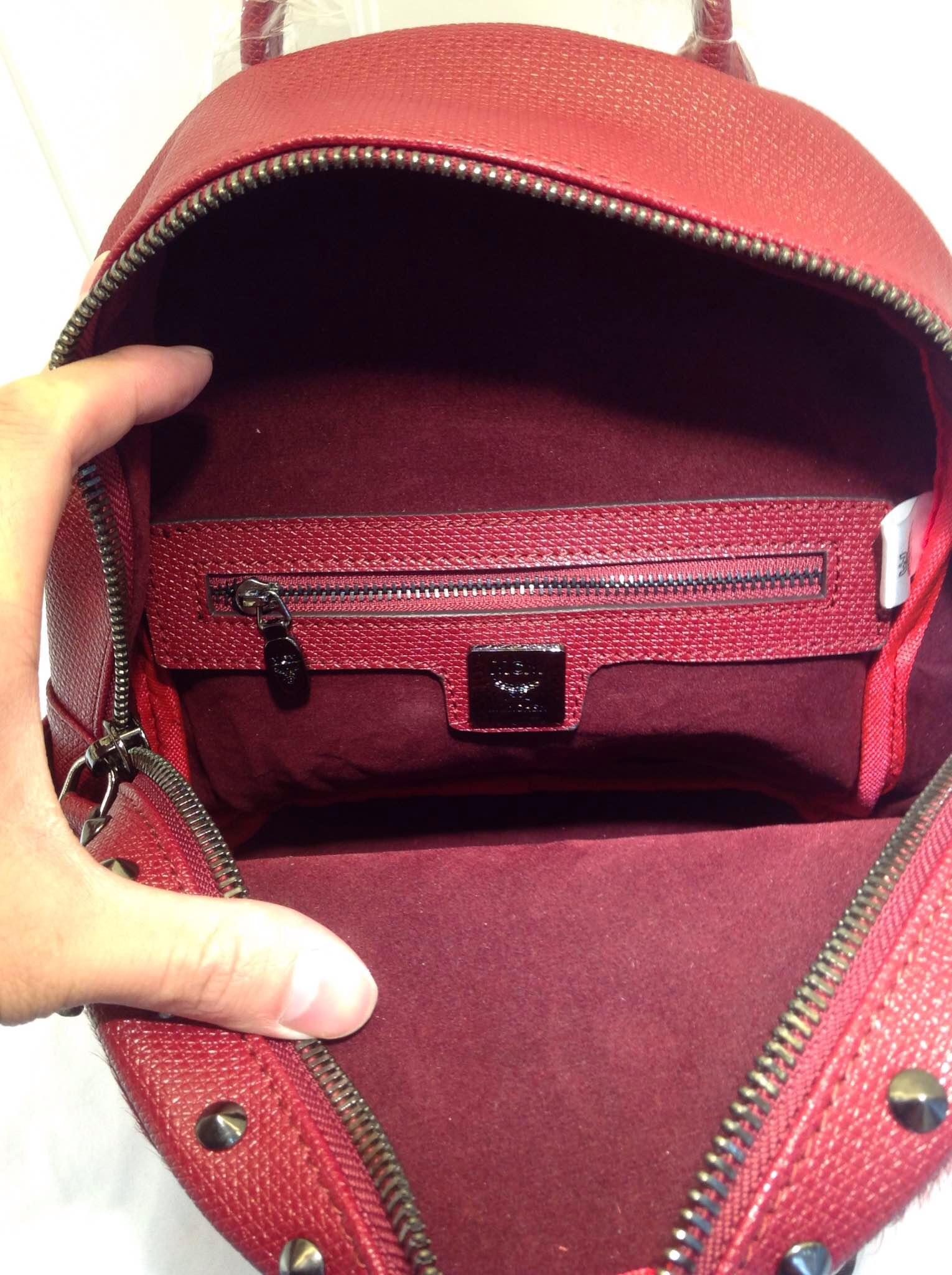 2015MCM新款 女款mini双肩包 顶级马毛包包 专柜质量