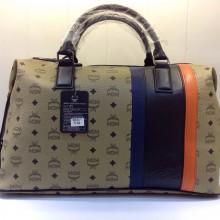 MCM军绿色旅行袋 原版皮手提包 时尚批发手袋