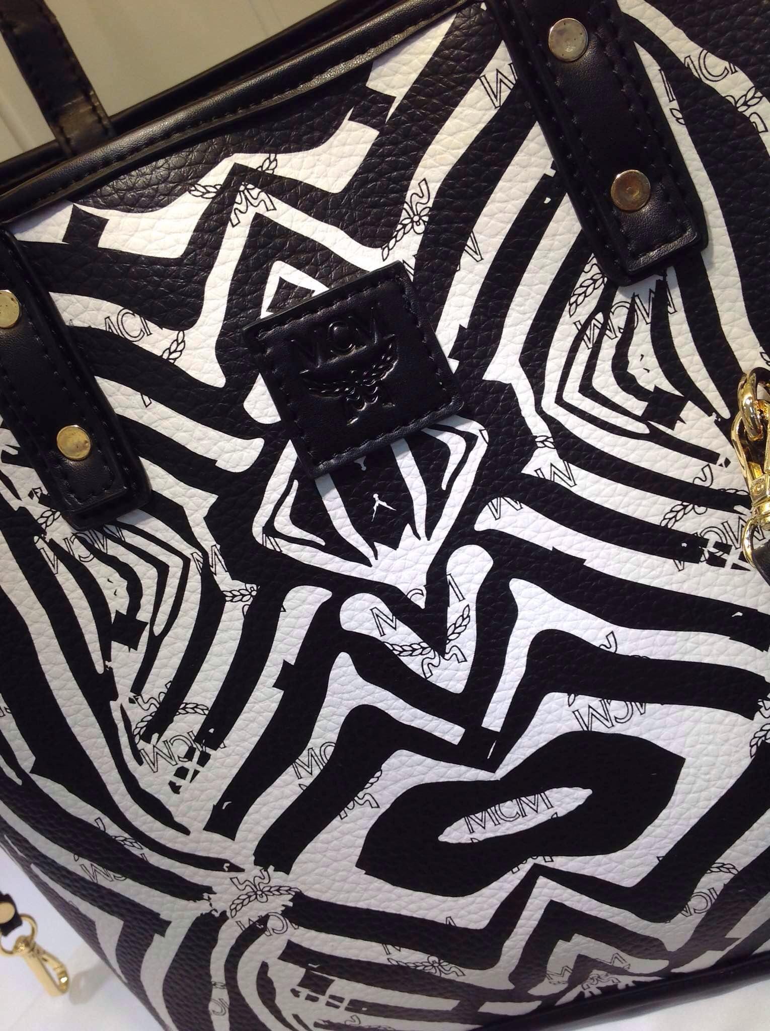 MCM专柜新款 白色纹子母购物袋 一件代发 厂家直销