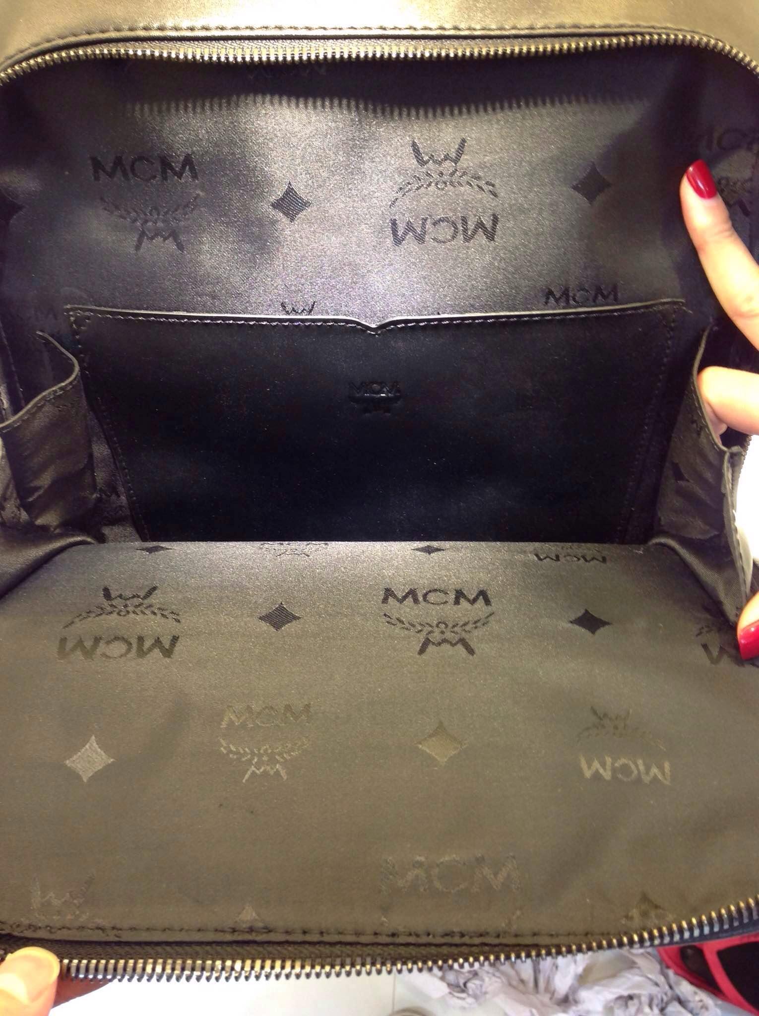 2015春季 MCM专柜新款  超赞绣花 柔软牛皮