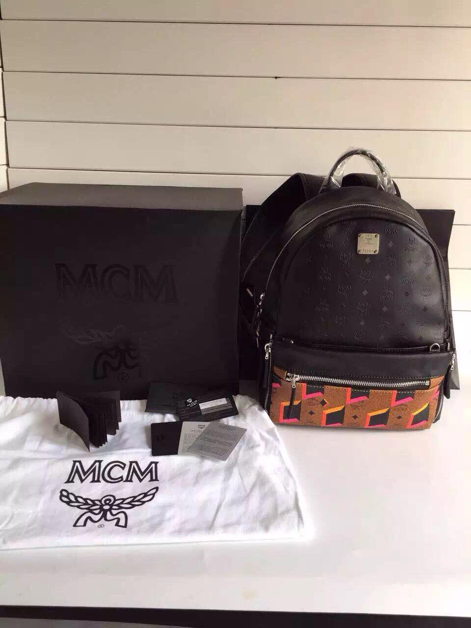 MCM原单 李易峰同款 独立编码 全套包装 黑色