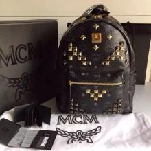 MCM原单 经典小M钉 全套包装 黑色