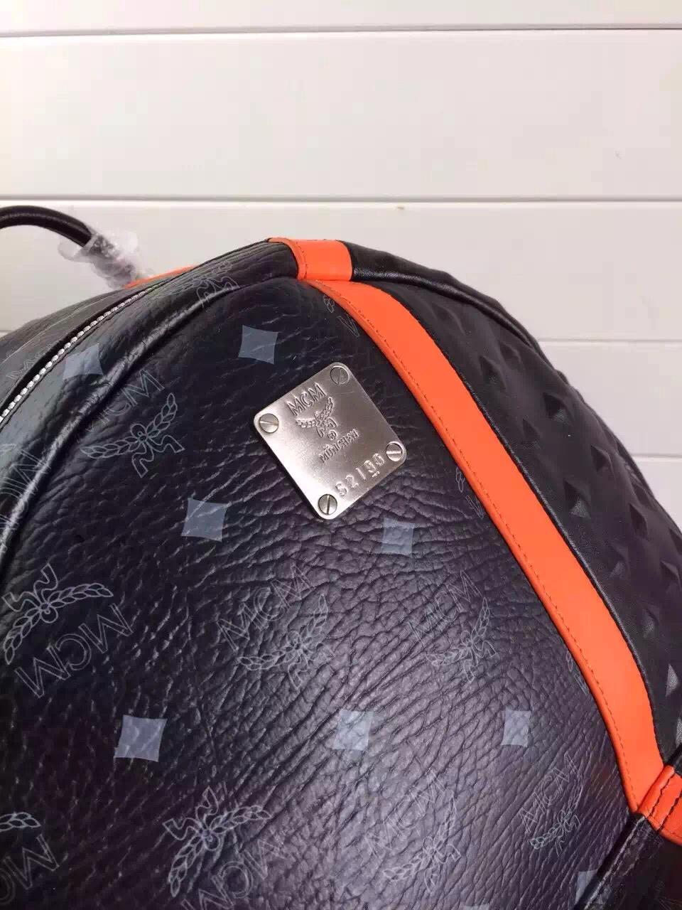 MCM原单官网 拼色双肩包女士包包 正品代购品质 厂家直销