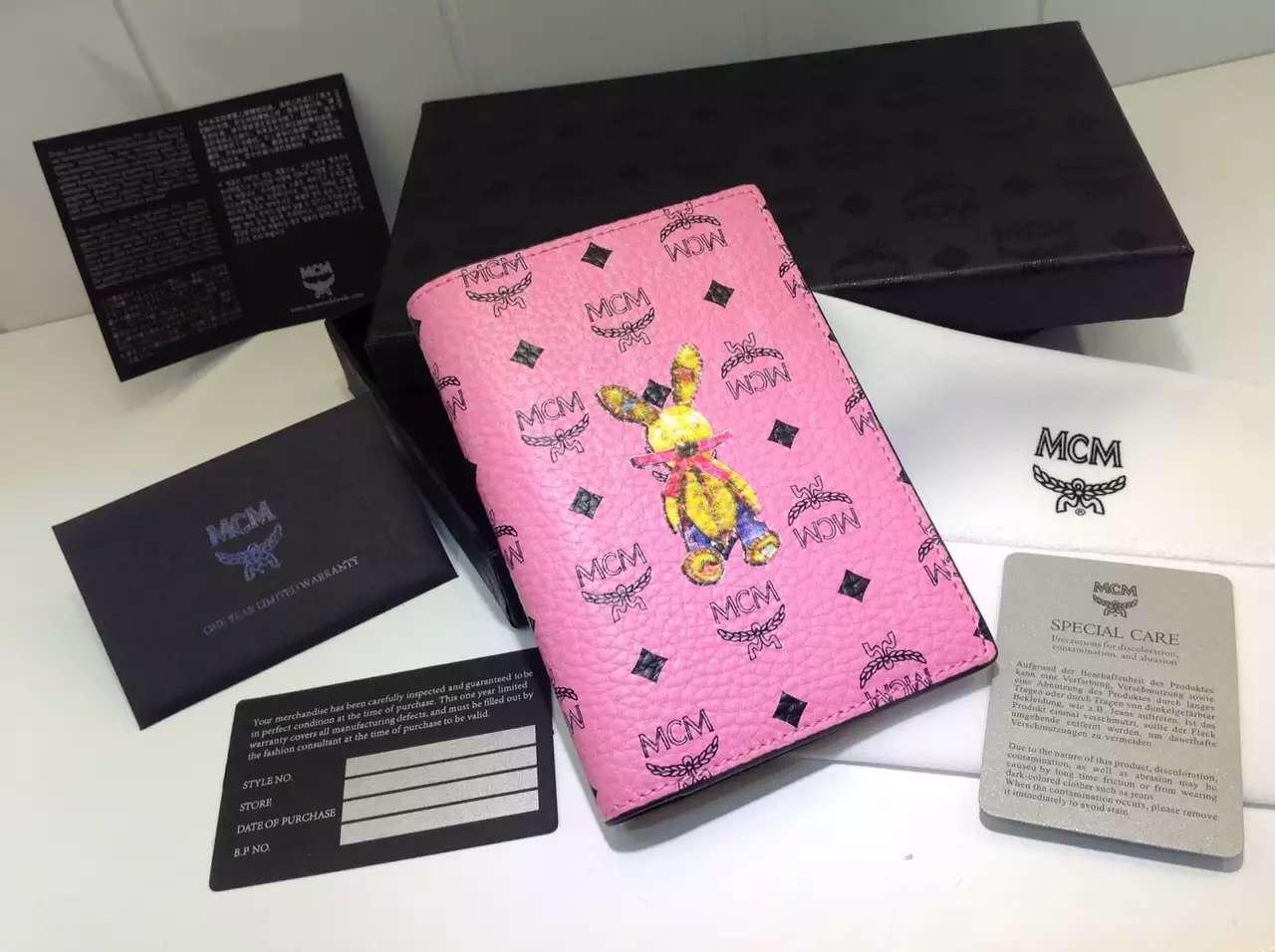 MCM 小兔子钱包 原版品质 粉色