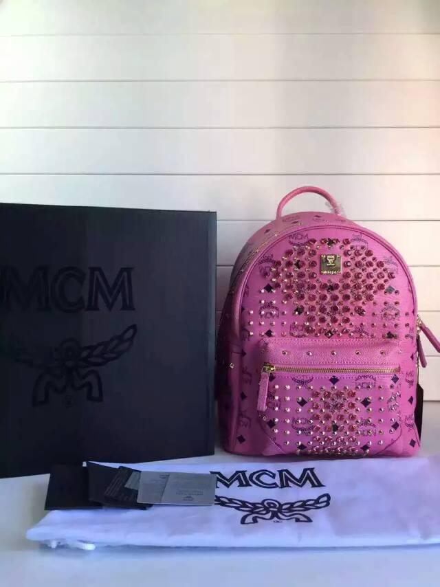 广州白云皮具城 MCM原单 专柜品质 粉色