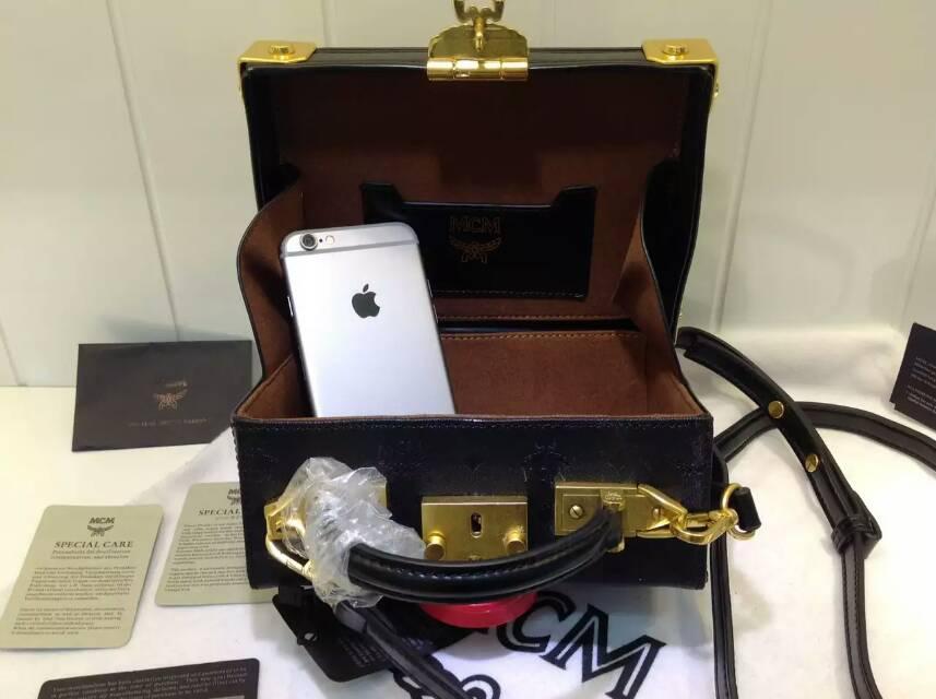 一件代发 MCM复古风格 Berlin箱型手袋
