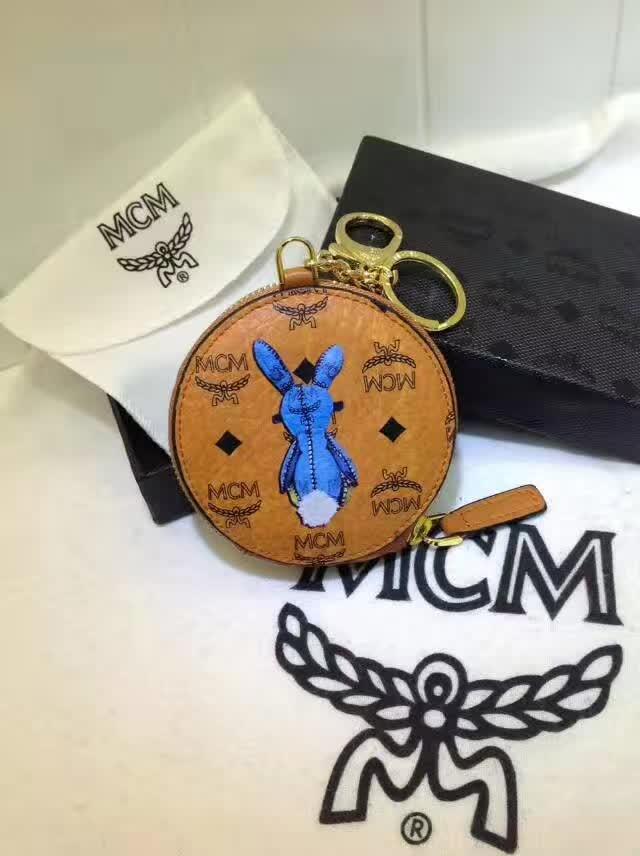 MCM钱包 MCM零钱包 可当挂饰 亦可装零钱和地铁公交卡 土黄