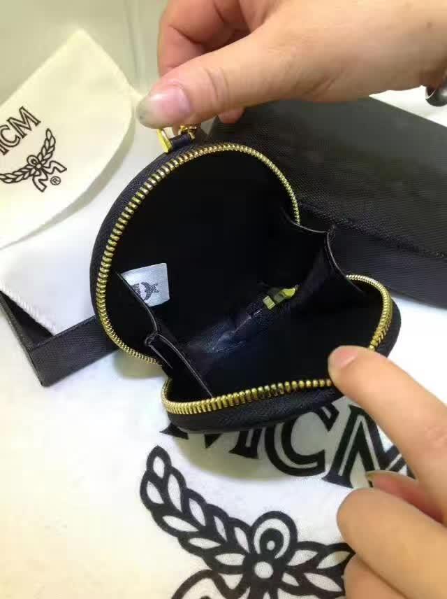 MCM钱包 MCM零钱包 可当挂饰 亦可装零钱和地铁公交卡 黑色