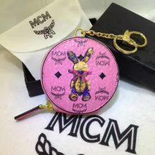 MCM钱包 MCM零钱包 可当挂饰 亦可装零钱和地铁公交卡 粉色