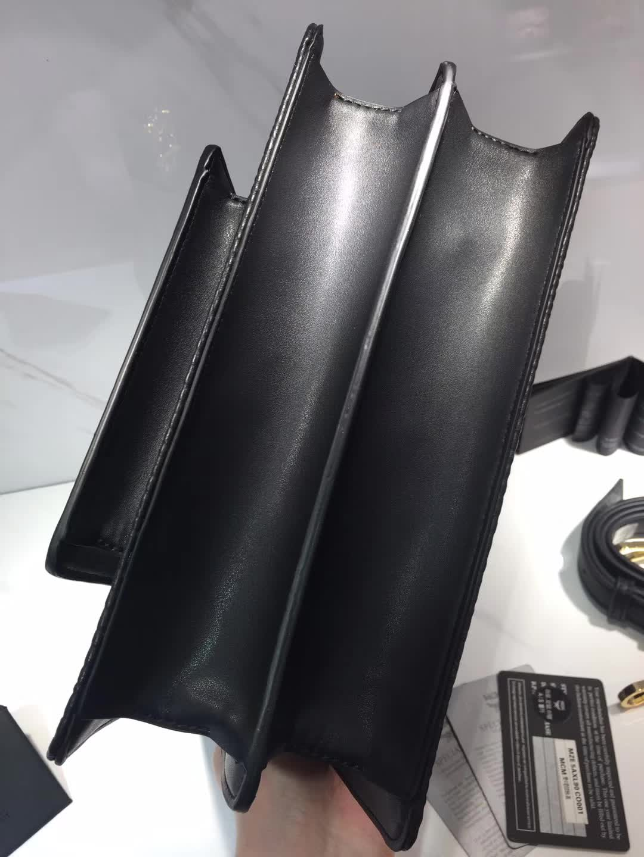 MCM官网2018新款 Patricia系列口袋款邮差包风琴包 外观独特 黑色