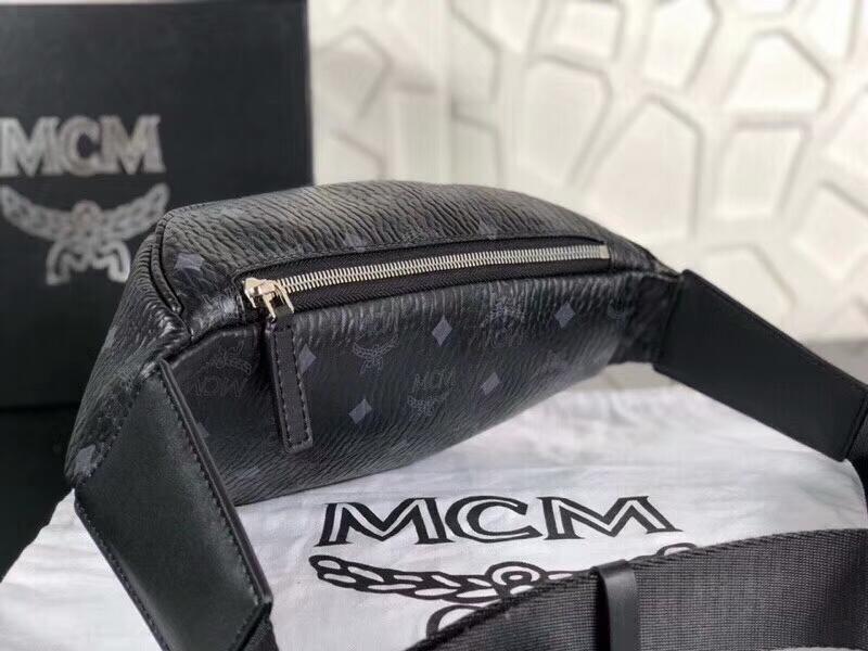 MCM韩国官网 2018专柜新款腰包 内里帆布材质耐用有型 黑色