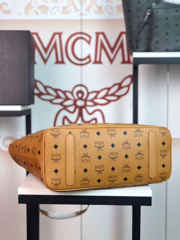 MCM包包官网 Visetos Anya购物袋 实用随和 土黄