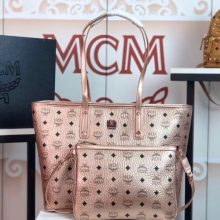 MCM包包官网 Visetos Anya购物袋 实用随和 香槟金