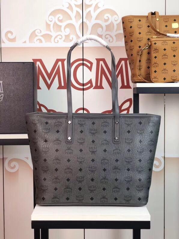 MCM包包官网 Visetos Anya购物袋 实用随和 灰色