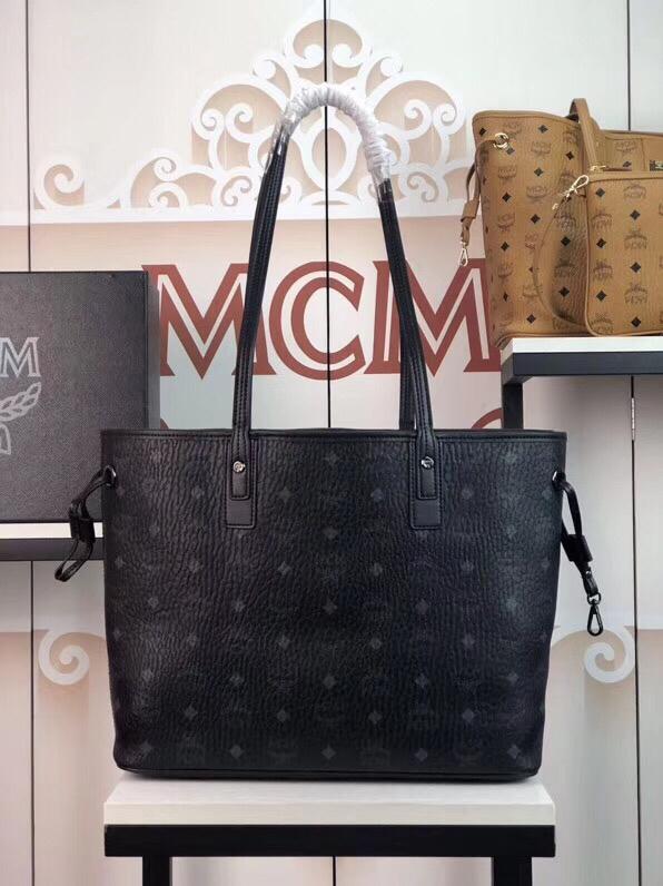 MCM官网 LIZ VLSETOS系列格子纹 双面可用 黑色
