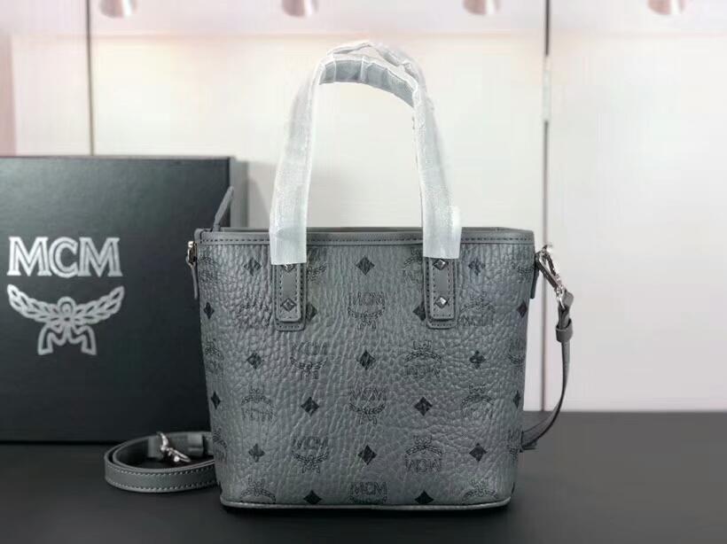 MCM包包批发 ANYA mini购物袋 多变的迷你 旅行的理想选择 灰色