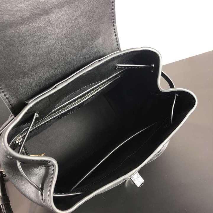 MCM19款经典Viseto印花Essential翻盖多用单双肩包 经典印花PVC配牛皮革制成 黑色