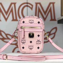 MCM 新款 x-mini 斜挎包(冰激凌粉)经典Visetos 印花 男女通用款