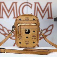 MCM 新款 x-mini 斜挎包(黑色)经典Visetos 印花 男女通用款