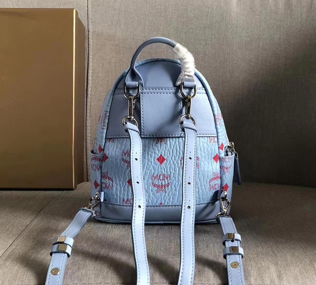 MCM经典双肩包超mini号 实用单品 经典Visetos印花设计 轻盈的粘合涂层帆布制成