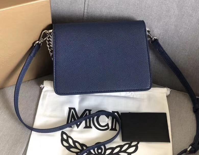 【¥500】MCM2019春夏PATRICIA mini拼接风琴包 Visetos印花涂层帆布与色块皮革组合 翻盖月桂叶锁扣