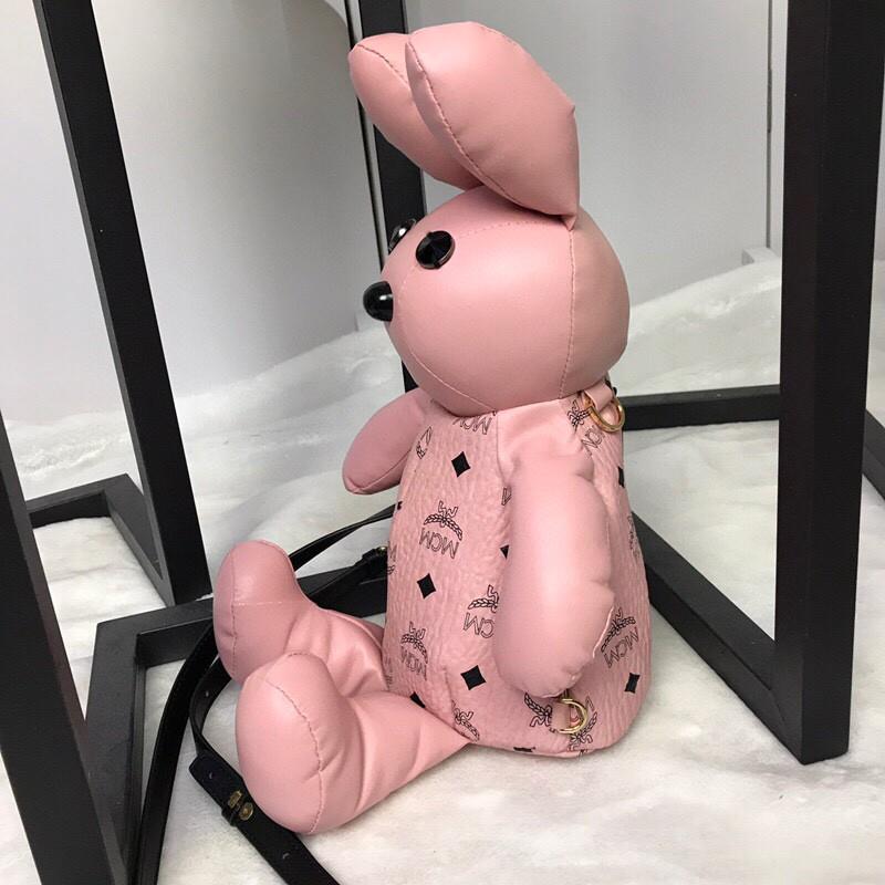 【¥390】MCM官网 吉祥物小兔子双肩背包 Visetos印花涂层帆布制作
