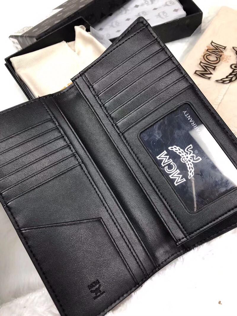 【¥150】MCM男士两折长款钱包 休闲式钱夹票夹 内设多卡 大钞票隔层